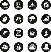 Rains Season Icons - Black Circle Series