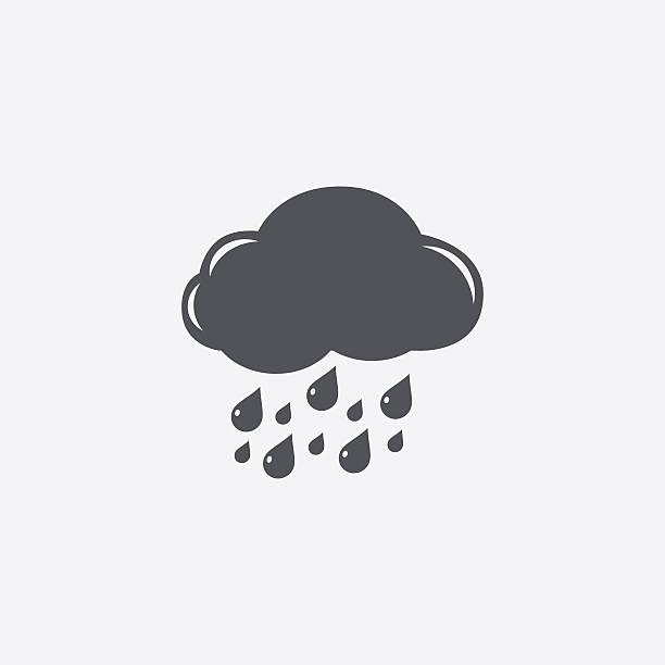 Regnerischen Wolken-Symbol – Vektorgrafik