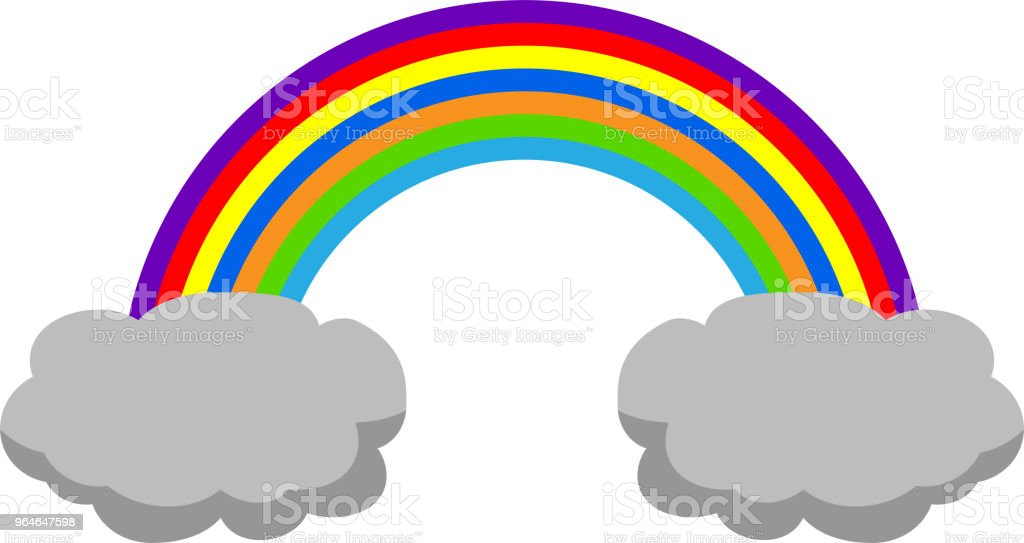 Rainy clouds and rainbow 2 royalty-free rainy clouds and rainbow 2 stock vector art & more images of art product