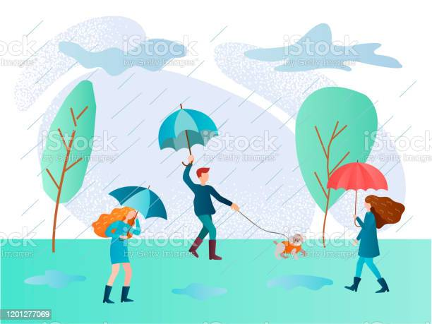 Rainy day and people walking in the rain with umbrellas vector id1201277069?b=1&k=6&m=1201277069&s=612x612&h=btx8v0tlpjxpfqsrnfiwqmldgjpda zcpbvskjcxaxu=