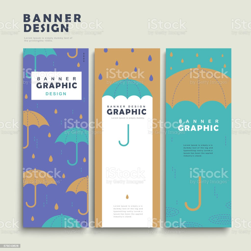 rainy day banner template stock vector art 579243628 istock