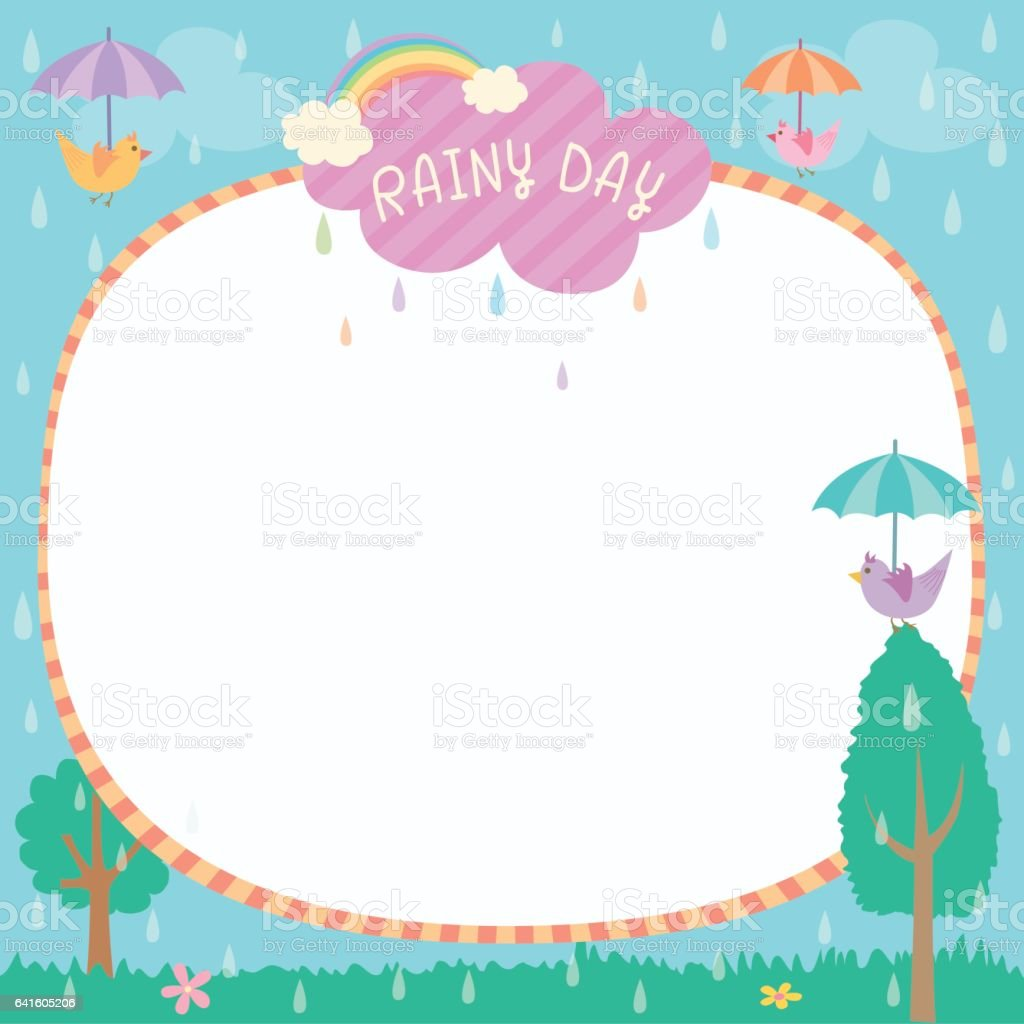 rainy day template stock vector art  u0026 more images of