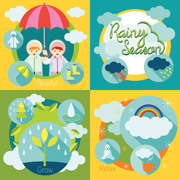 Royalty Free Rainy Season Clip Art, Vector Images ...