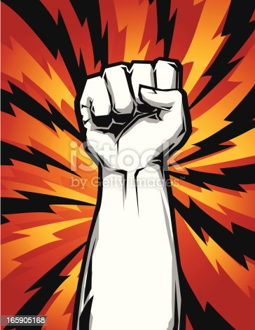 istock raised fist up 165905168