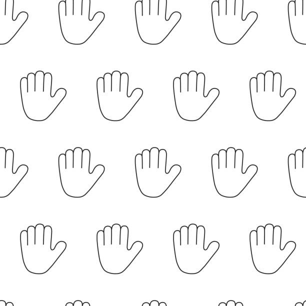 royalty free stop hand signal clip art vector images