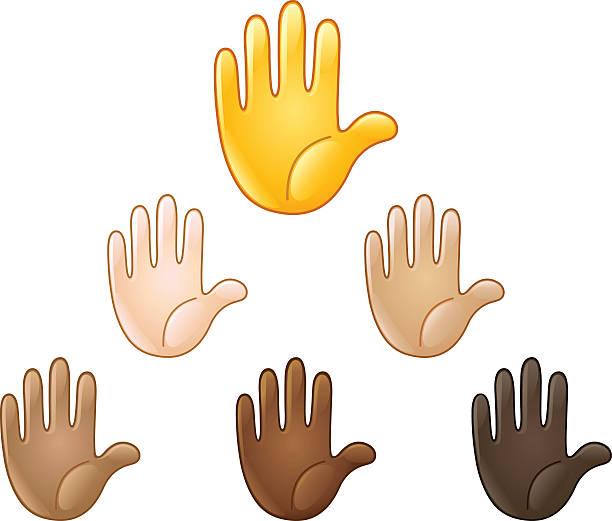 royalty free hands up emoji clip art vector images illustrations