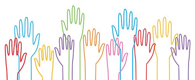 LGBTQ Raised Hands