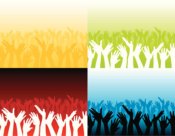 Best Worship Crowd Illustrations, Royalty-Free Vector