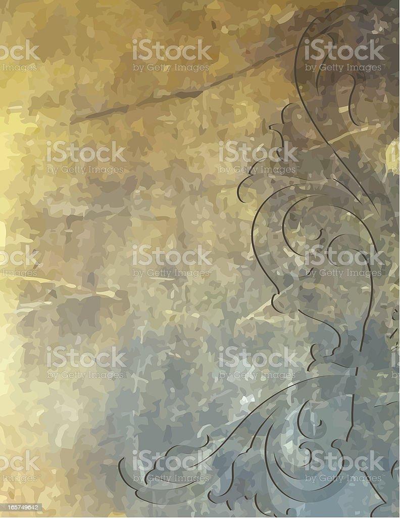 Raised Stone Scrollwork royalty-free stock vector art