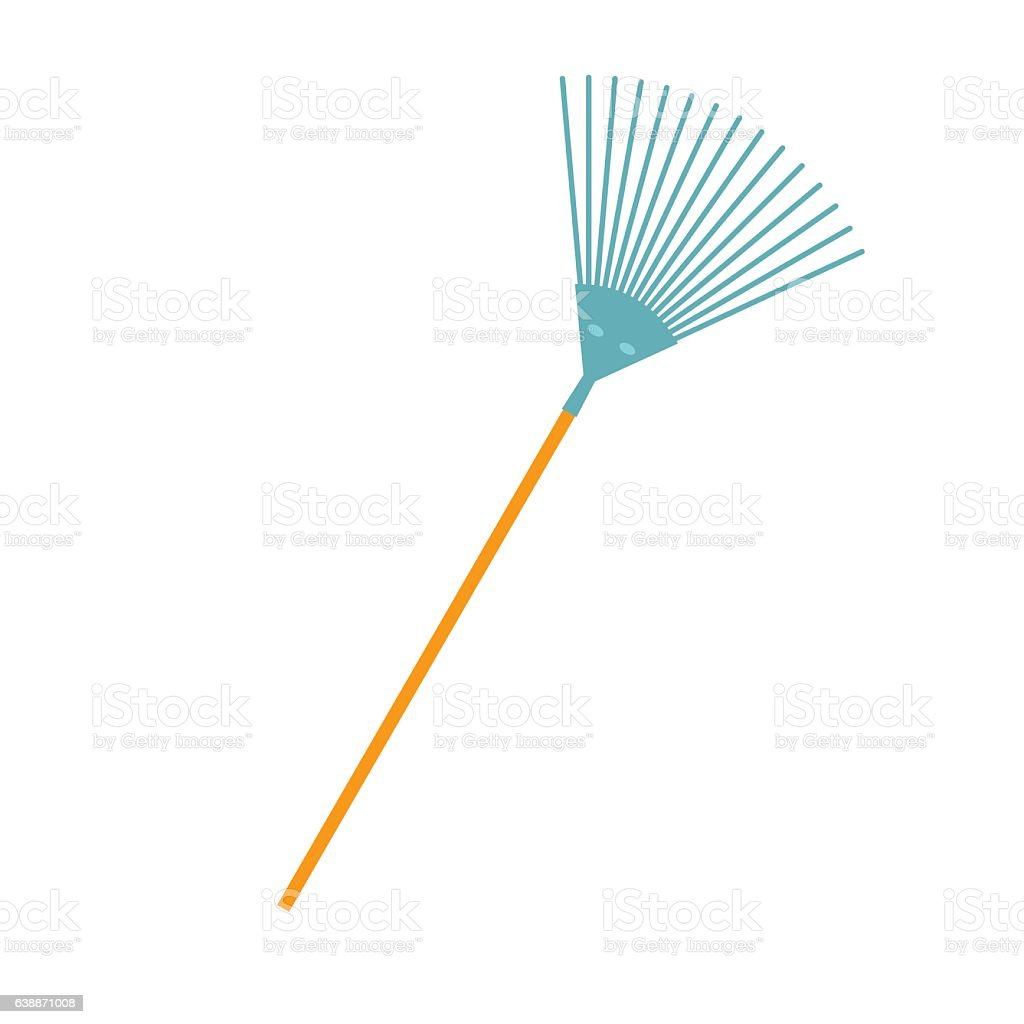 Rake flat icon vector art illustration