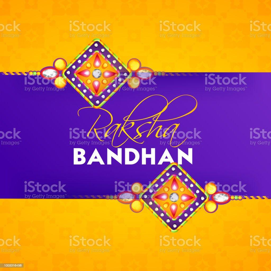 Raksha bandhan greeting card design with illustration of rakhi made raksha bandhan greeting card design with illustration of rakhi made by stones royalty free m4hsunfo
