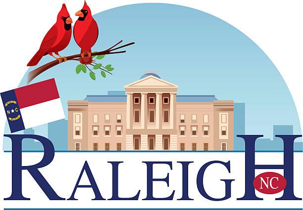 ilustrações, clipart, desenhos animados e ícones de raleigh capitol - capitel
