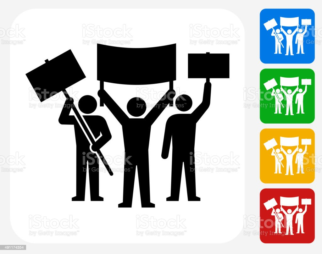 Rally Group Icon Flat Graphic Design vector art illustration