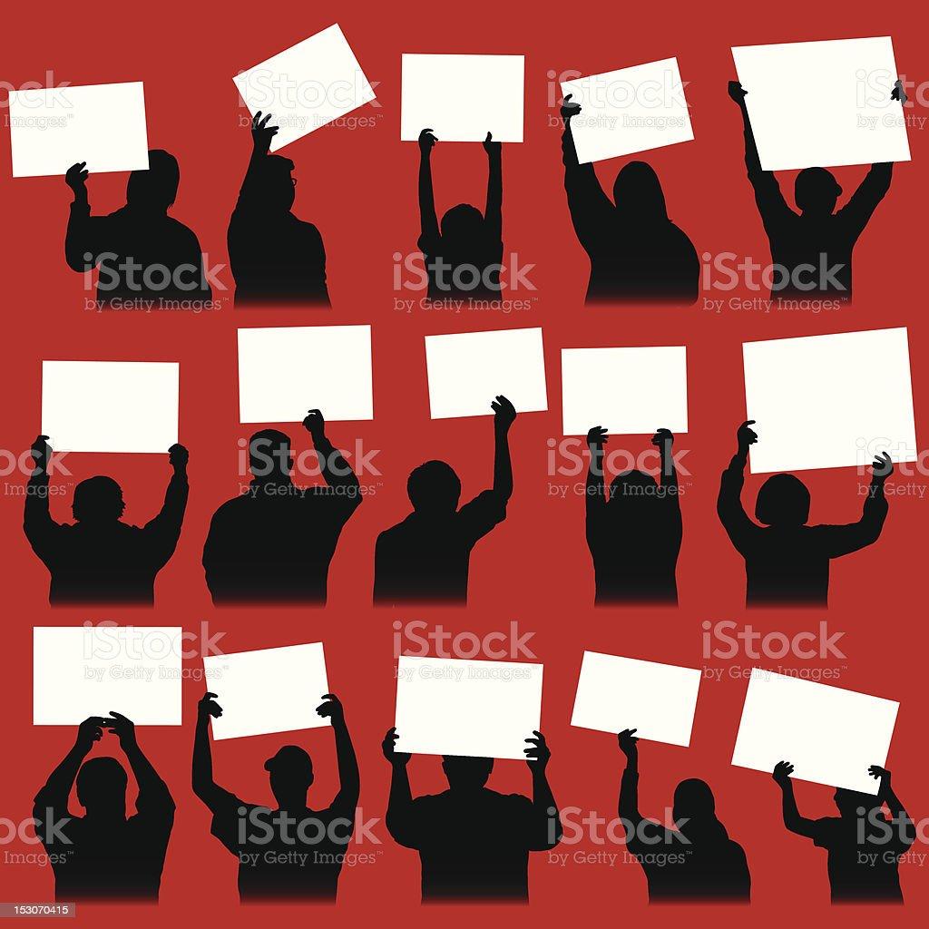 Rally Signs vector art illustration