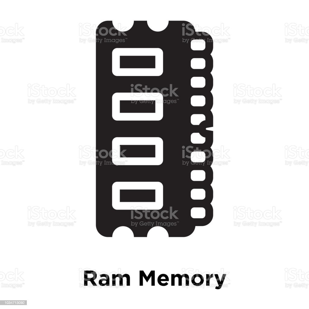 Ram Memory Icon Vector Isolated On White Background Logo Concept Of Chips In A Cell Phone Board Royalty Free Stock Photo Image Sign