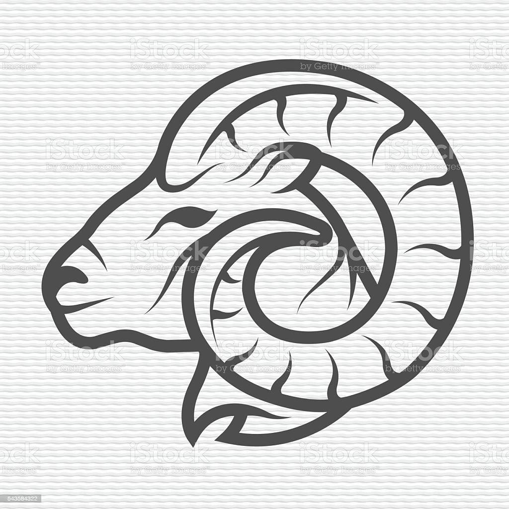 Ram symbolem i logo, znaku. – artystyczna grafika wektorowa