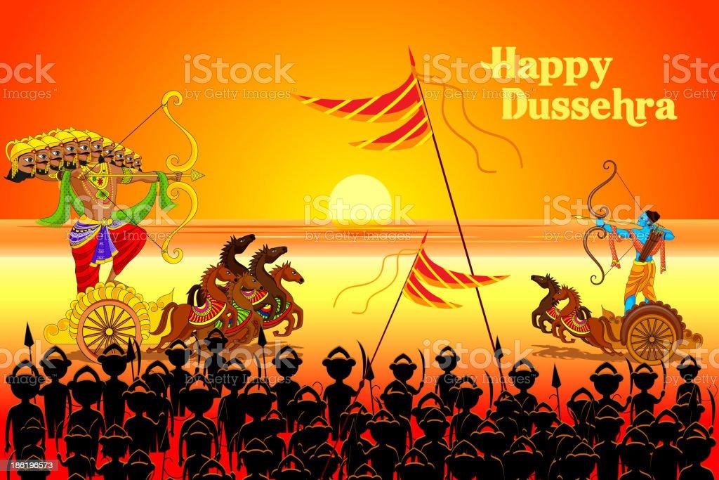 Rama killing Ravana in Dussehra royalty-free rama killing ravana in dussehra stock vector art & more images of celebration