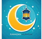Moonlit Ramadan Mubarak background illustration. EPS 10 file. Transparency effects used on highlight elements.