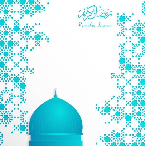 ramadan backgrounds vector  with Arabic pattern ramadan backgrounds vector  with Arabic pattern blue background nu stock illustrations