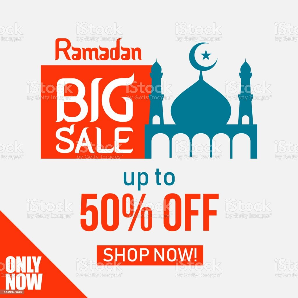 Ramadan Big Sale up to 50% off Shop Now Vector Template Design Illustration vector art illustration