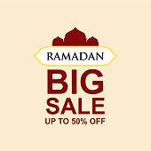 Ramadan Big Sale up to 50% off Vector Template Design Illustration
