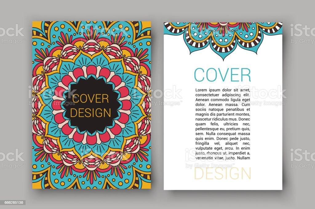 ramadan brochure pages ornament vector illustration decorative retro