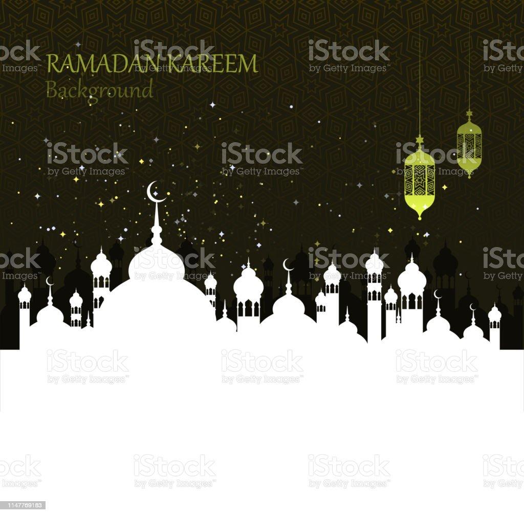 齋月慶祝活動 - 免版稅Ramadan Kareem圖庫向量圖形