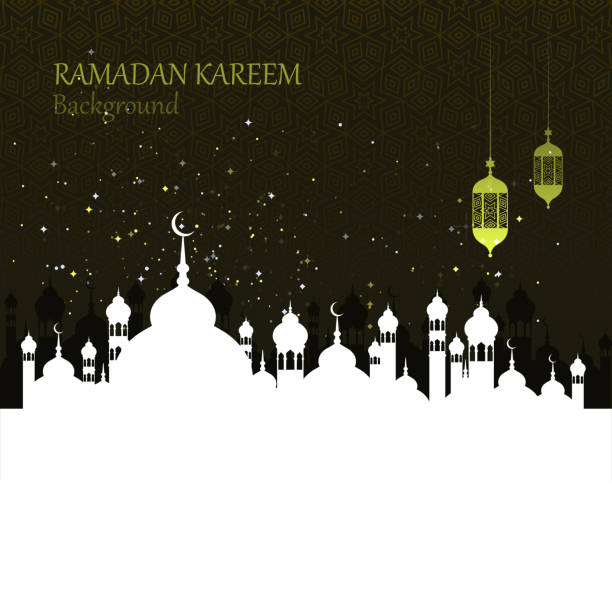 ramadan celebration ramadan kareem celebration greeting card template ramadan stock illustrations