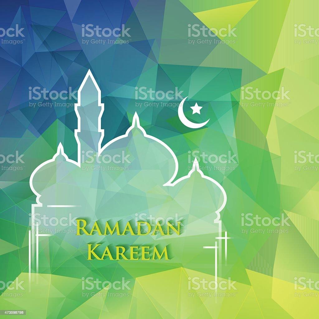 Ramadan design background vector art illustration
