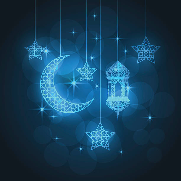 ramadan greeting card - ramadan stock illustrations, clip art, cartoons, & icons