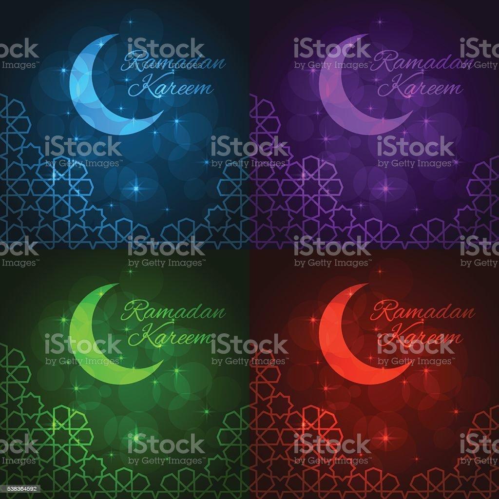 Ramadan Grüße Karte Stock Vektor Art und mehr Bilder von Arabeske ...