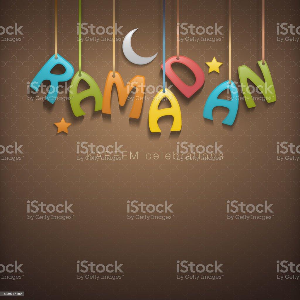 Ramadan greetings background vector art illustration