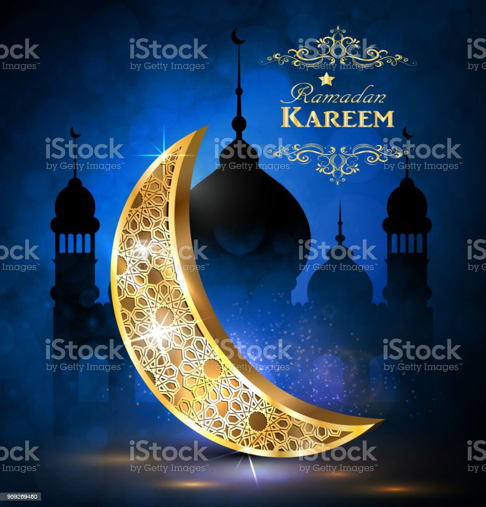 Ramadan Greetings Vector Stock Vector Art More Images Of Abstract