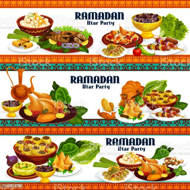 Ramadan iftar dishes drinks and desserts vector id1140374780?b=1&k=6&m=1140374780&s=612x612&h=q4tb1n5o8oqg5j jpf9mcxfjthhp9 dkfxhigdnzfdq=