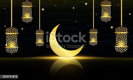 istock Ramadan Kareem Background Design 1310741813