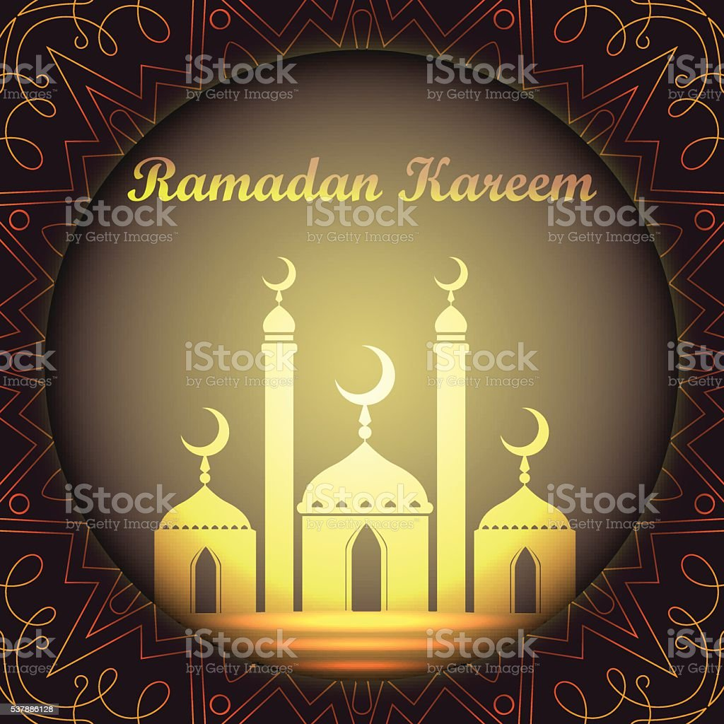 Ramadan Kareem Background With Islamic Ornament Design