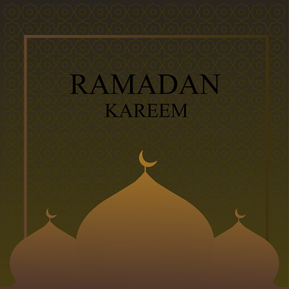ramadan kareem background with mosque in month of ramadan