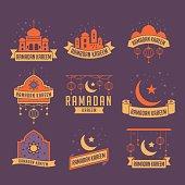 Ramadan Kareem Badge Collection