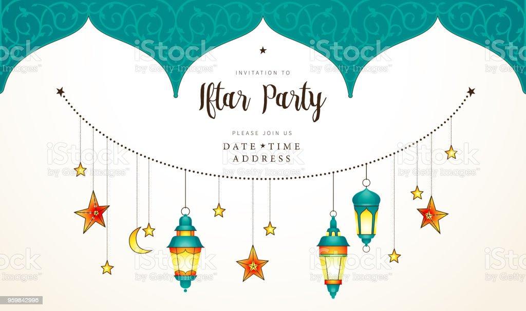 Ramadan kareem card invitation to iftar party celebration stock ramadan kareem card invitation to iftar party celebration royalty free ramadan kareem card stopboris Choice Image