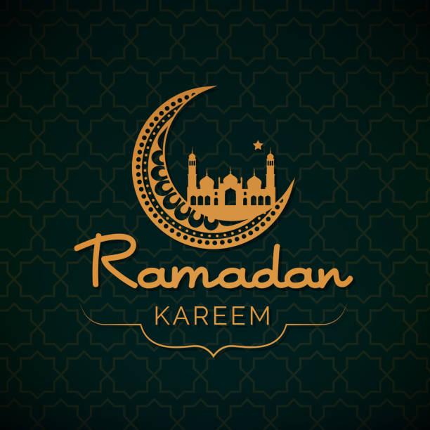 ramadan kareem karte - ramadan kareem stock-grafiken, -clipart, -cartoons und -symbole