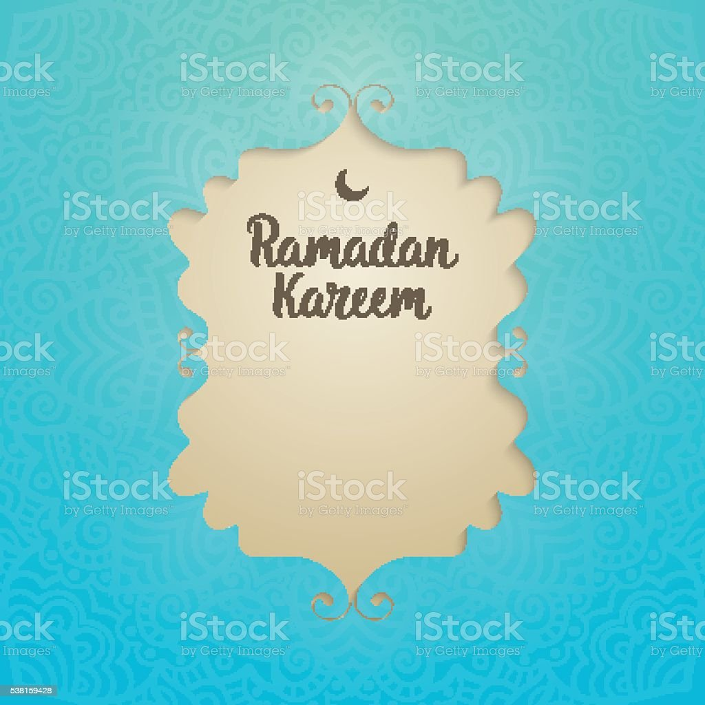 Ramadan Kareem card vector art illustration