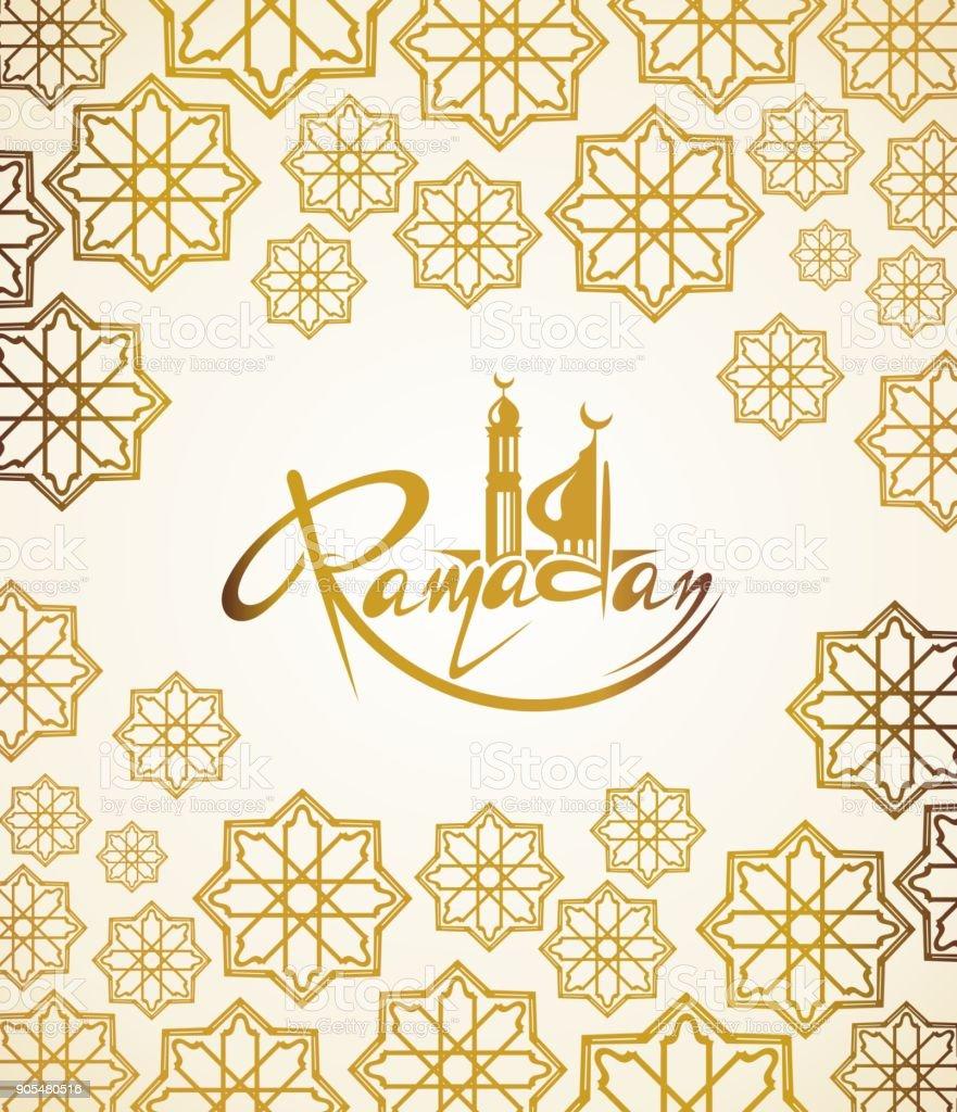 Ramadan Kareem card vector art illustration