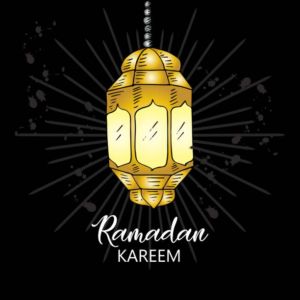 illustrations, cliparts, dessins animés et icônes de ramadan kareem carte - cage animal nuit