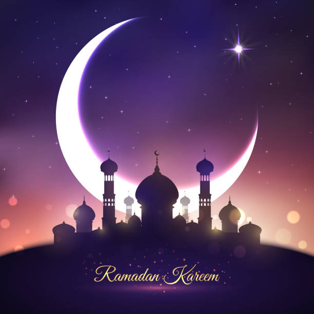 ramadan kareem, eid mubarak greeting card design - ramadan stock illustrations, clip art, cartoons, & icons