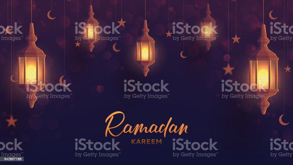 Plantilla de banner de web festivo de Ramadán kareem - ilustración de arte vectorial