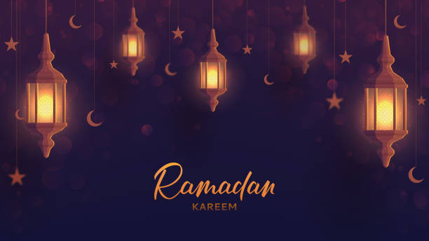ramadan kareem festive web banner template - ramadan stock illustrations, clip art, cartoons, & icons