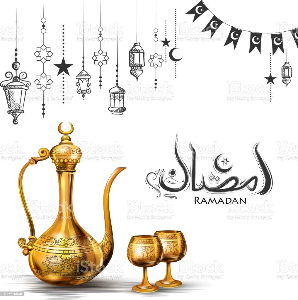 Ramadan kareem generous ramadan greetings for islam religious ramadan kareem generous ramadan greetings for islam religious festival eid with olden floral frame royalty m4hsunfo