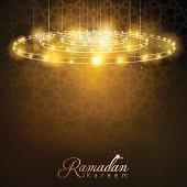 Ramadan Kareem glow lamp with arabic geometric pattern