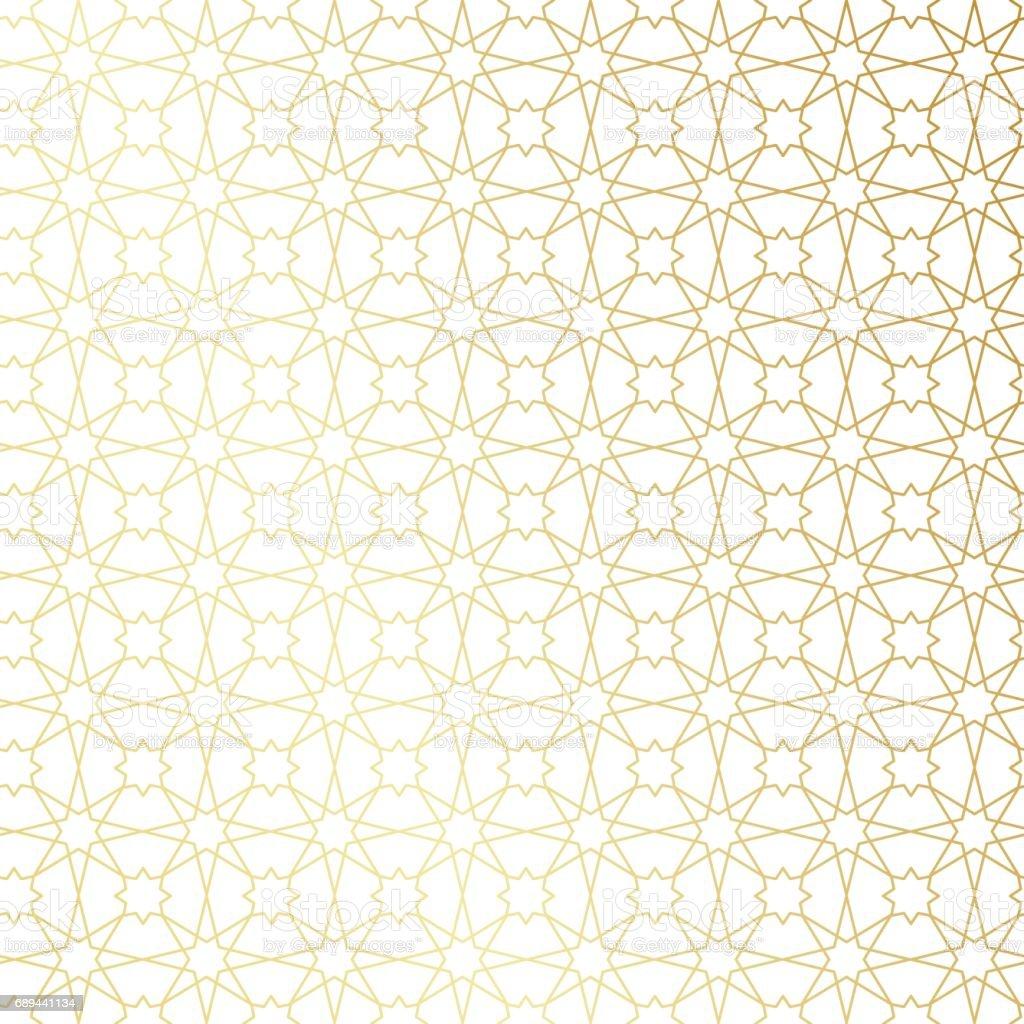 Ramadan Kareem Gold Greeting Card Banner Seamless Pattern