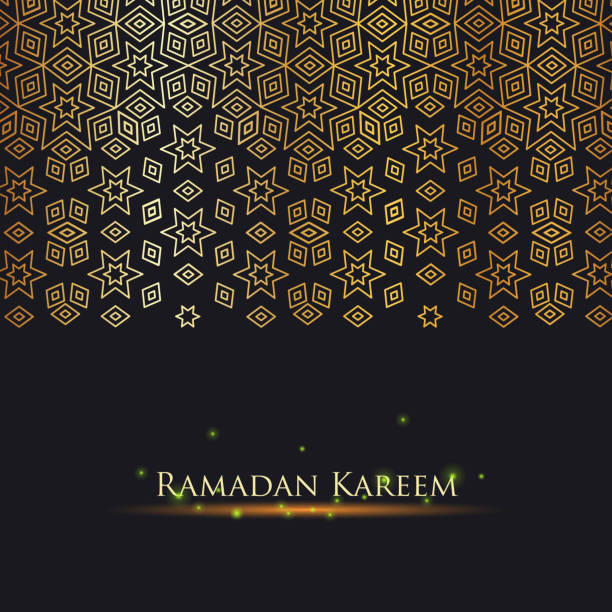 ramadan kareem gold - arab stock illustrations